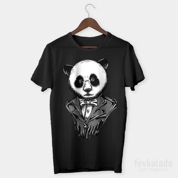 Panda Özel Tasarım Unisex T Shirt
