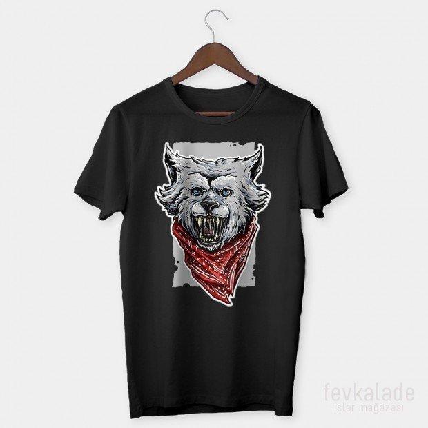 Blue Wolf Özel Tasarım Unisex T Shirt