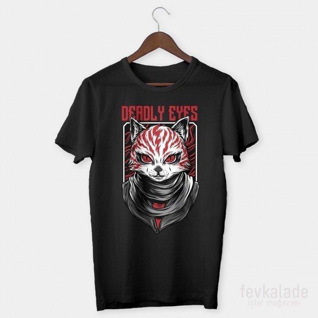 Deadly Eyes Özel Tasarım Unisex T Shirt