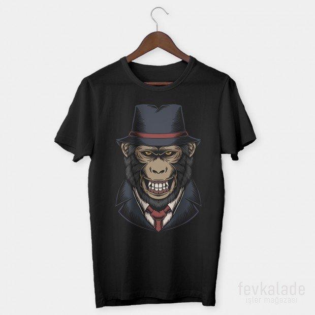 Gentleman Ape Özel Tasarım Unisex T Shirt