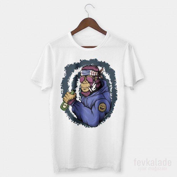 Hippie Ape Özel Tasarım Unisex T Shirt