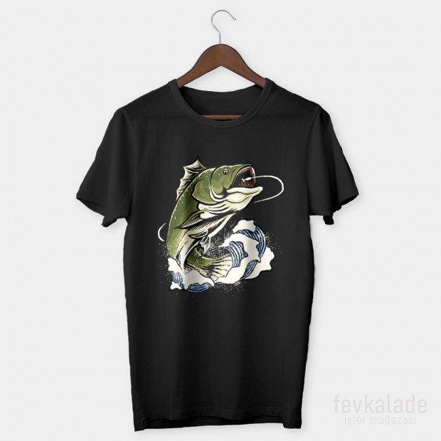 Crazy Fish Özel Tasarım Unisex T Shirt
