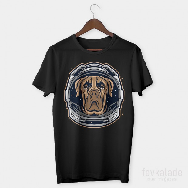 Astronaut Dog Özel Tasarım Unisex T Shirt