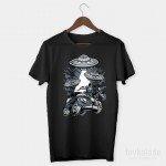 Ufo Car Özel Tasarım Unisex T Shirt