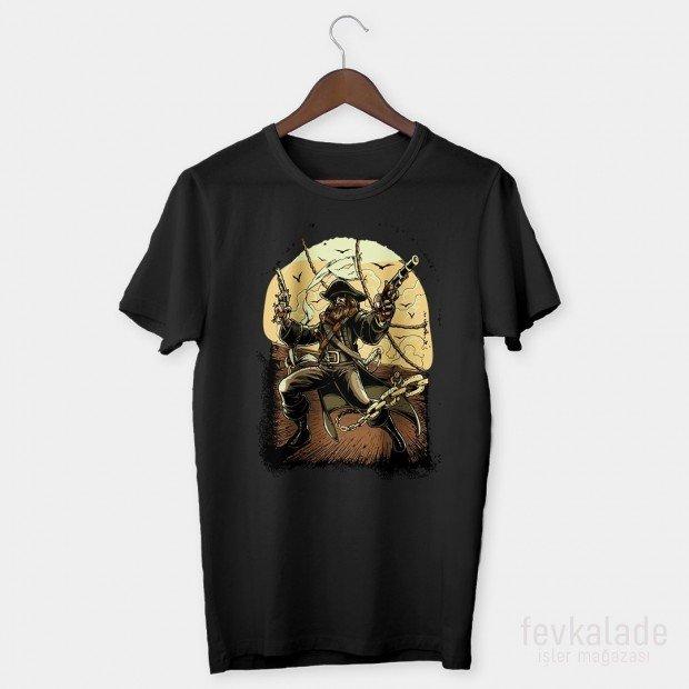 Sun Pirate Özel Tasarım Unisex T Shirt